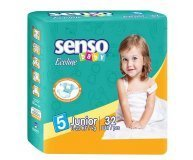 Подгузники Senso baby Ecoline Junior 5 11-25кг 32шт/уп