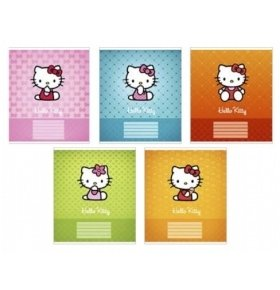 Тетрадь Школьная Hello Kitty 12л. Линия 1шт