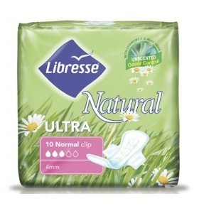 Прокладки Libresse Natural Ultra Clip No 1уп