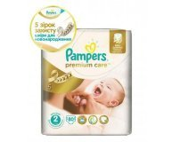 Подгузники Pampers Premium Care Mini 3-6кг 80шт/уп