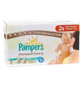 Подгузники Pampers Premium Care Midi Мега-серия 120шт/уп
