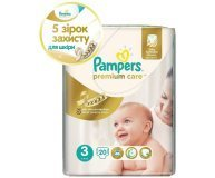 Подгузники Pampers Premium Care Midi 5-9кг 20шт/уп