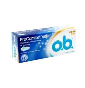 Тампоны O.b. ProComfort Night Super 16шт/уп